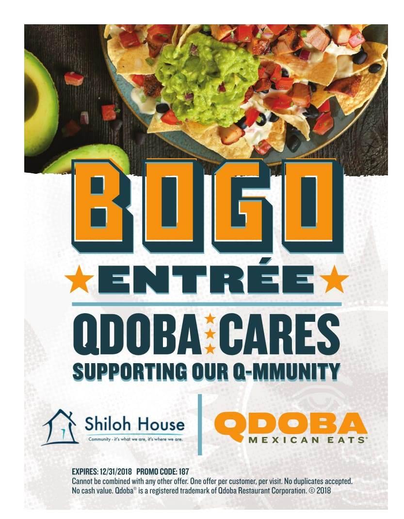 picture relating to Qdoba Menu Printable named Qdoba coupon / Scarborough inexpensive lodge bargains